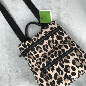 NWT Kate Spade Leopard Convertible Backpack Bag